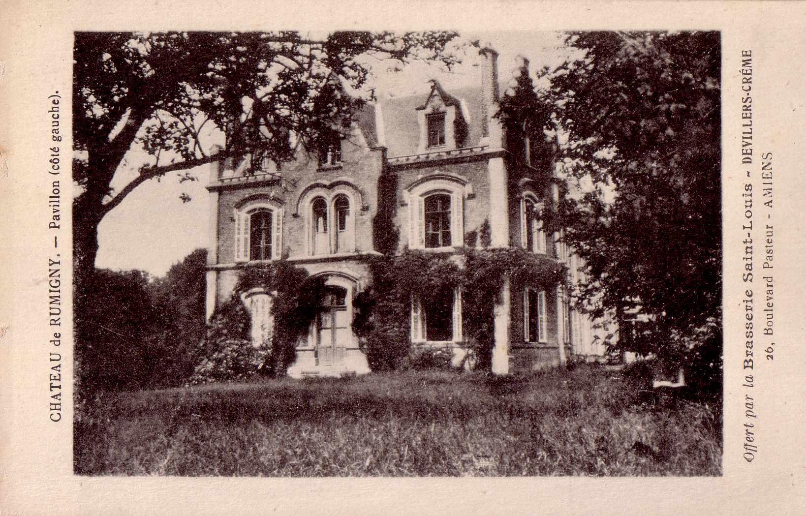 Château de Rumigny, pavillon côté gauche