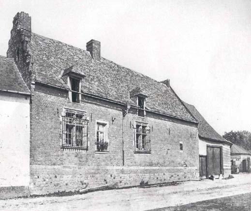 """Le manoir, d'après une gravure du 19è siècle (""""Picardie historique et Monumentale"""")."""